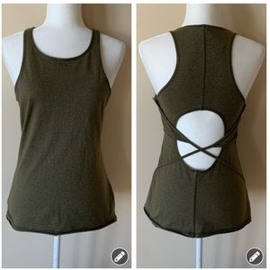 Athleta green cross back athletic tank #1515